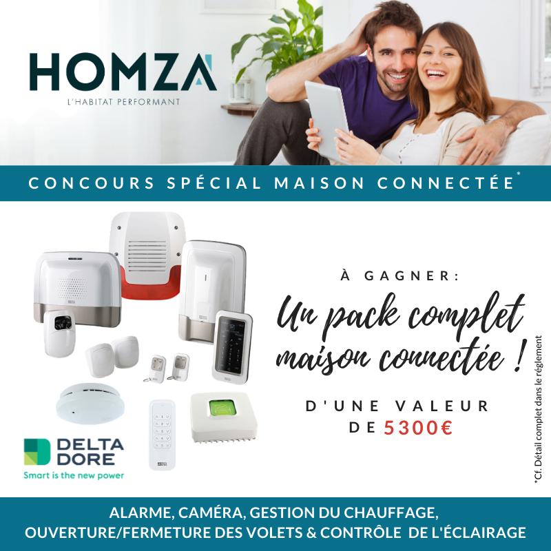 Grand concours Homza : un pack complet maison connectée