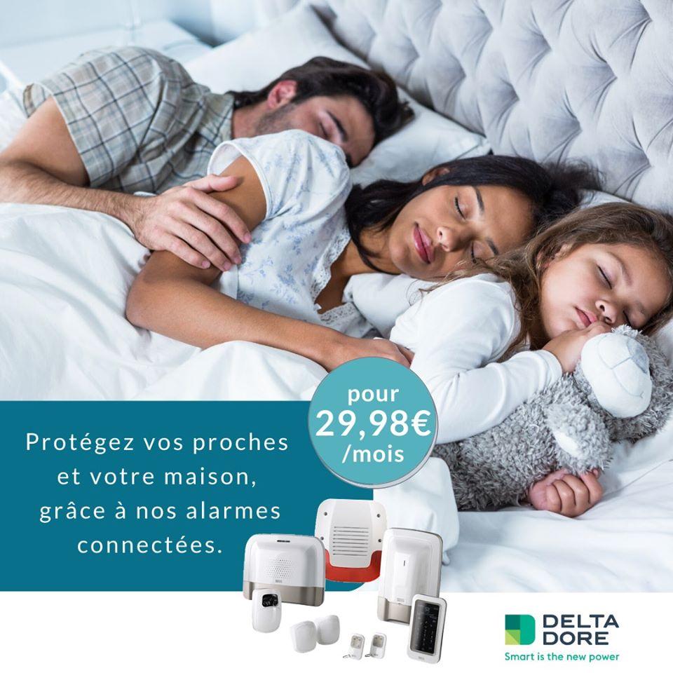 Offre alarmes connectées pour 29,98€/mois