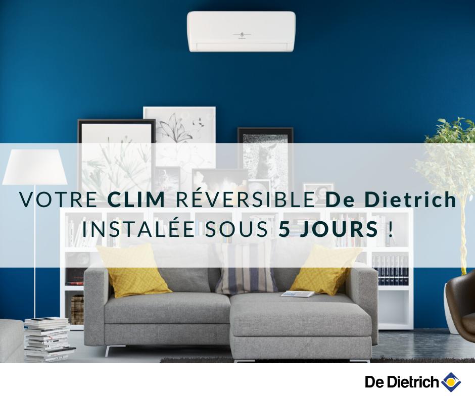 Clim réversible De Dietrich installée sous 5 jours